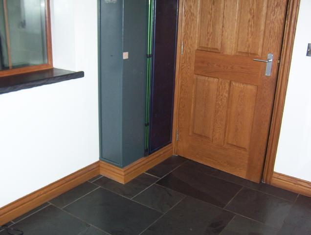 And I Didn T Want To Cut My Skirting Broad So Made A Box Sit The Cabinets On Put Bit Of Board Around It Finish Off