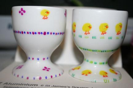Decorated Egg Cups