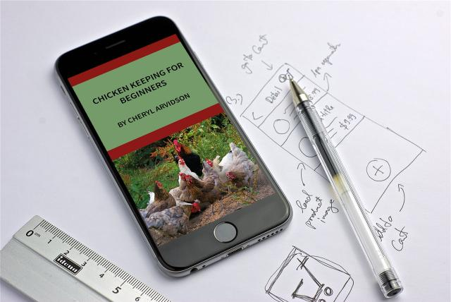 chicken keeping for beginners mockup