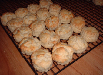 Put t'kettle on, scones are ready